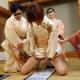 高倉美千子 川下茜 中井智子 和城裕美 新年・貴婦人の乱交2015  恒例!淫語書き初め