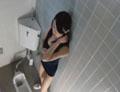 素人 女子中学生スク水トイレ指オナニー淫撮6