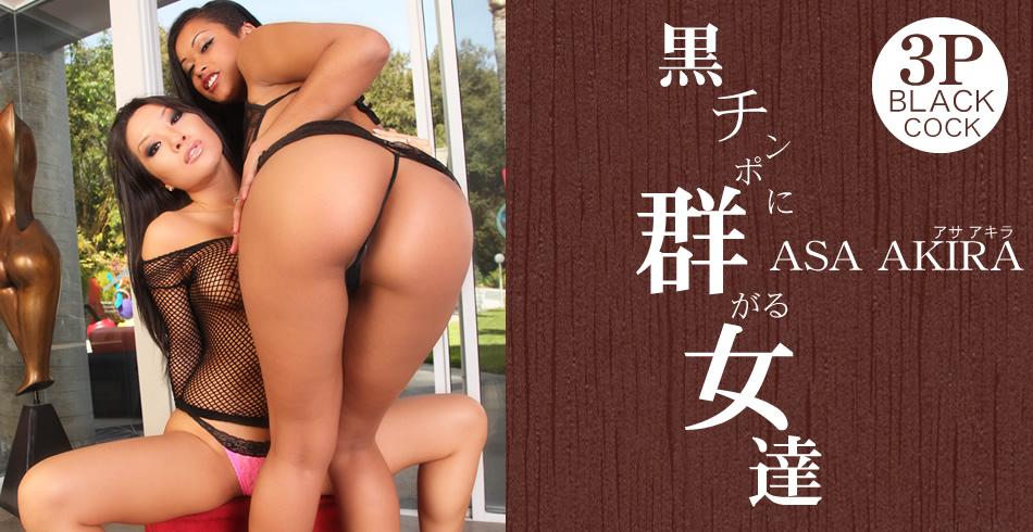アサ アキラ:黒チンポに群がる女達 Asa Akira【Hey動画:アジア娘】