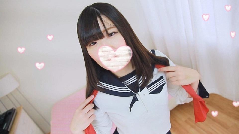 エッチなことで頭がいっぱいな制服美少女!!☆柔らかくて綺麗な肌のパイパンおマンコ☆顔を赤らめてのどエロな騎乗位ダンス!!