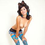 Parw Slim Asian girl creampied raw on sofa