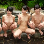 オムニバス ド田舎の川辺で無垢な女の子に悪戯してそのまま近くの温泉で乱交しちゃいました。4